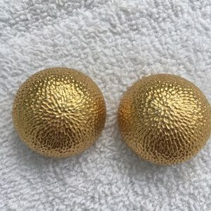 Vintage Dior Gold Tone Clip on Earrings